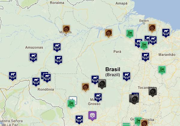 mapa da lista suja do trabalho escravo